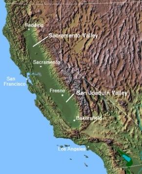 California's Central Valley (Photo: https://en.m.wikipedia.org/wiki/Central_Valley_(California) )